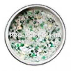 Декор для ногтей снежный микс, Зеленый фото | PRO-VSE