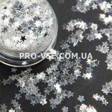 Звезды Прозрачные серебряный блик фото