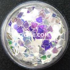 Блестки бриллиант 16 Прозрачный, фиолетово-золотой отлив 1г, 1.5г фото