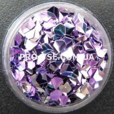 3D блестки бриллиант 05 фиолетово-сиреневый, хамелеон 1г фото