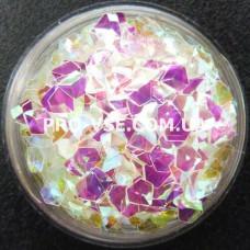 Объемные 3D блестки бриллиант опт 10 Прозрачный бирюзово-розовый, хамелеон 10г, 50г, 100г, 200г, 500г, 1000г фото