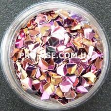 3D блестки бриллиант 12 Розово-золотой, хамелеон 1г, 1.5г фото