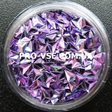 3D блестки треугольник 05 фиолетово-сиреневый, хамелеон 1г, 1.5г фото