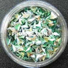 3D блестки треугольник 06 Изумрудно-оливковый, хамелеон 1г фото