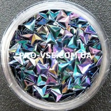 3D блестки треугольник 07 Черный хамелеон 1г фото