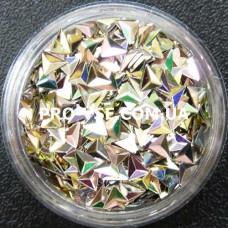 3D блестки треугольник 08 оливково-золотой, хамелеон 1г фото