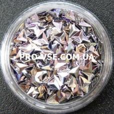 3D блестки треугольник 11 сиреневый гематит, хамелеон 1г, 1.5г фото
