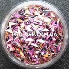 3D блестки треугольник 12 Розово-золотой, хамелеон 1г, 1.5г фото