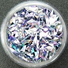 3D блестки ромб 02 Фиолетово-голубой, хамелеон 1г фото