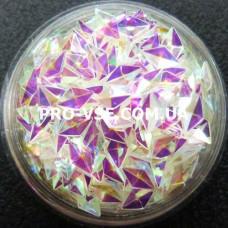 3D блестки ромб 10 Прозрачный бирюзово-розовый, хамелеон 1г, 1.5г фото