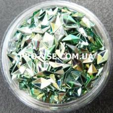 3D блестки ромб 06 Изумрудно-оливковый, хамелеон 1г, 1.5г фото