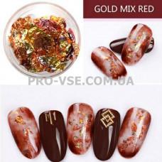 Поталь для ногтей, фольга жатая Золото/Медь фото | PRO-VSE