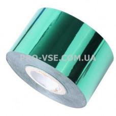 Фольга переводная Изумрудный зеленый глянец 1м фото | PRO-VSE