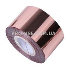 Фольга переводная Золото розовое глянец 1м фото | PRO-VSE