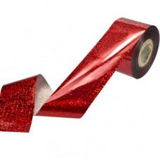 Фольга переводная Красная мишура гологр. 1м фото | PRO-VSE