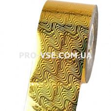 Фольга переводная Золото волны гологр. 1м фото | PRO-VSE