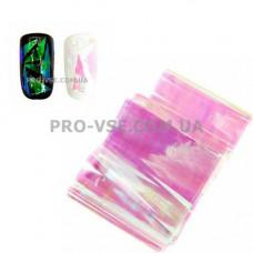 Фольга #4 Темно-розовая Эффект Битое стекло фото | PRO-VSE