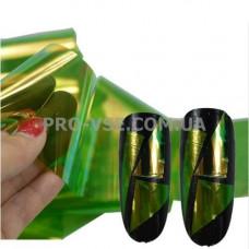 Фольга #10 Зеленая Эффект Битое стекло фото | PRO-VSE