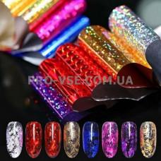Фольга переводная для ногтей набор 10 шт Laser show 01 фото | PRO-VSE