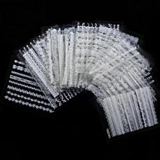 Набор наклеек для ногтей Белое кружево, самоклейки 29шт фото