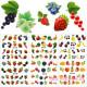 Набор водных наклеек для ногтей RP 103-108 6шт Фрукты, ягоды