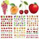Набор водных наклеек для ногтей RP 109-114 6шт Фрукты, ягоды