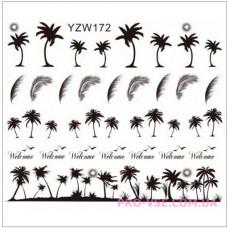 Водные наклейки для ногтей  YZW-172, фото