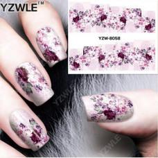 Наклейки для ногтей водные YZW-8058