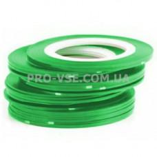 Наклейки для ногтей Ленты, скотч Зеленый травяной 1мм