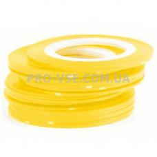 Наклейки для ногтей Ленты, скотч Желтый 1мм