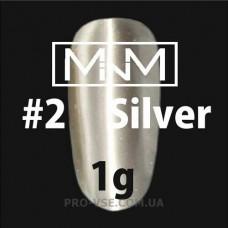 Хромовая пудра M-in-M № 2 Серебро 1 г