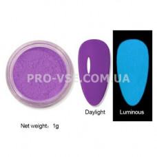 Люминесцентный пигмент Фиолетовый с голубым свечением 1 г