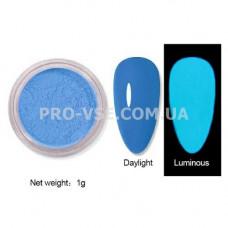 Люминесцентный пигмент Голубой с голубым свечение 1 г