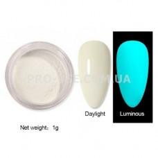 Люминесцентный пигмент Белый с голубым свечением 1 г