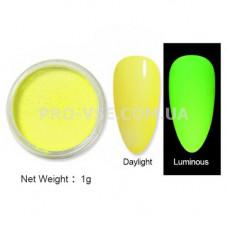 Люминесцентный пигмент Желтый с салатовым свечением 1 г