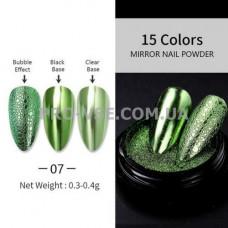 Пигмент зеркальный №11 светло-зеленый 0.1 г фото | PRO-VSE