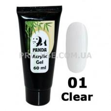 Акрил гель  (Acrylic Gel) PANDA № 1 Прозрачный 60 мл фото