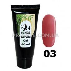 Акрил гель (Acrylic Gel) PANDA № 3 Карамельный бежевый 60 мл фото