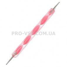 Дотс для ногтей с пластиковой ручкой