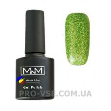 Гель-лак M-in-M J08 (083) светло-зеленый глиттерный 5 мл