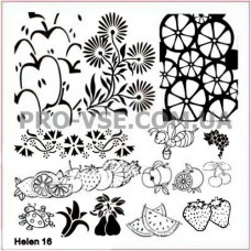 Пластина для стемпинга Helen 16 | PRO-VSE