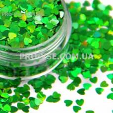Блестки Сердце Зеленый