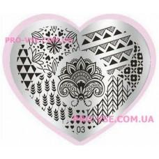 Пластина LOVE Heart 03