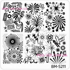 Пластина для стемпинга Bundle Monster BM-S211 квадратная фото| PRO-VSE