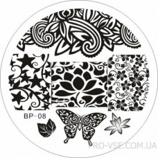 Диск для стемпинга BP 08 BornPretty фото ногти | PRO-VSE