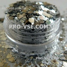 Соты № 5 Серебро микс размер