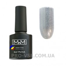 Гель-лак M-in-M J02 (004) серебряный глиттерный   7.5 мл