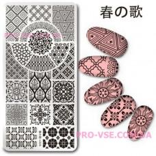 Пластина для стемпинга Harunouta L026 фото   PRO-VSE
