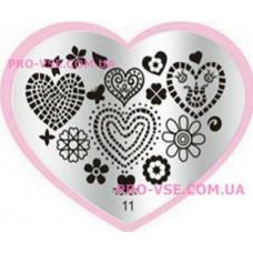 Пластина LOVE Heart 11