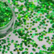 Звезды Зеленый гологр.